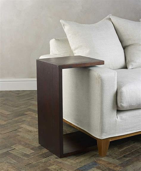 side table  couch arm rests design features pinterest sofa tables white