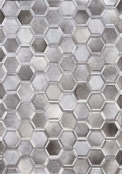 Cowhide Patchwork Rug Gray by Madisons Gray Cowhide Area Rug 3d Hexagon Pattern