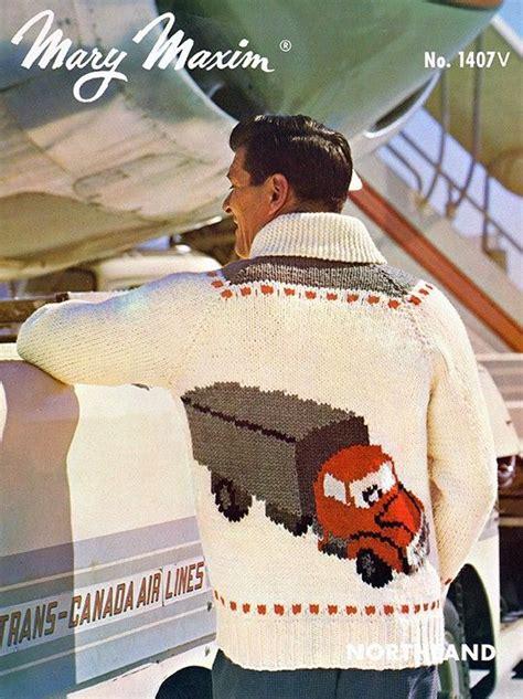 knit this sweater using mary maxim titan yarn vintage