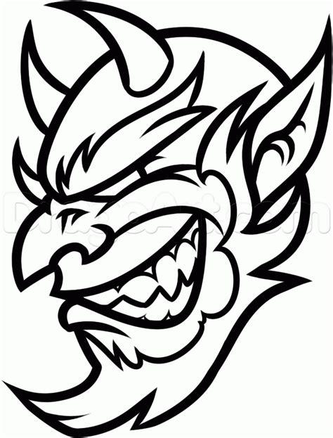 draw  cool devil head step  step concept art