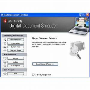 safeit39s digital document shredder review With digital document shredder