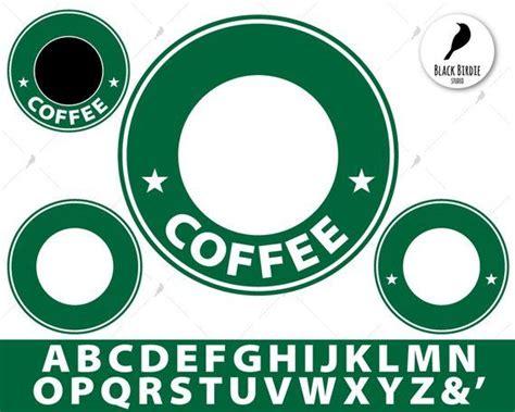 starbucks svg starbucks clipart logo template svg coffee svg custom monogram frame svg