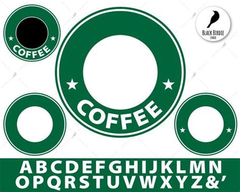 All original artworks are the property of freevector.com. 4 coffee circles + 26 letters + & + svg and cliparts pack ...