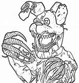 Freddy Coloring Pages Nightmare Printable Nights Five Fnaf Astonishing Inspirations Stunning Funtime Cartoon Jason sketch template
