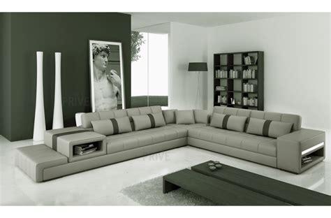canape d angle 7 places cuir canap 233 d angle en cuir italien 6 7 places gris clair gris fonc 233 mobilier priv 233