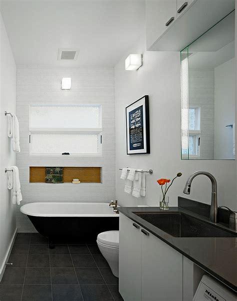Freistehende Badewanne Die Moderne Badeinrichtungfreistehende Badewanne Weiss by Badezimmer Ideen In Schwarz Wei 223 45 Inspirierende Beispiele
