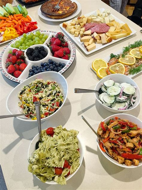 delicious food ideas   girls game night buffet