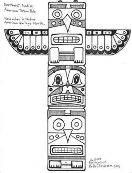 Totem Pole Bear Template by Native American Activity Pack Totem Pole Totem Cubes
