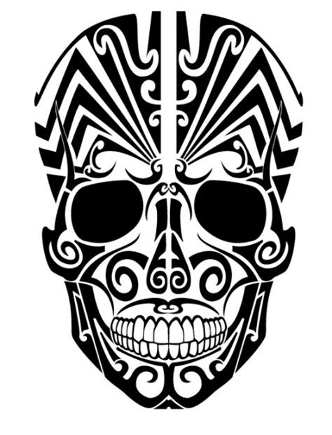 Scary Wolf Pumpkin Carving Patterns by Tribal Skull Tattoo From Frontal View Vector Free Download