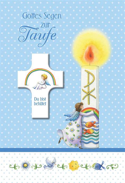glueckwunschkarte mit segenskreuz gottes segen zur taufe