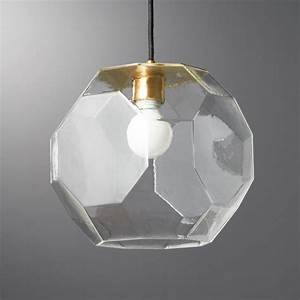 Clear Pendant Lights Flat Glass Pendant Light Reviews Cb2