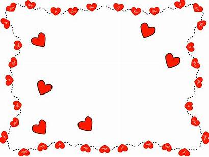 Valentines Valentine Border Clipart Clip Frames Backgrounds