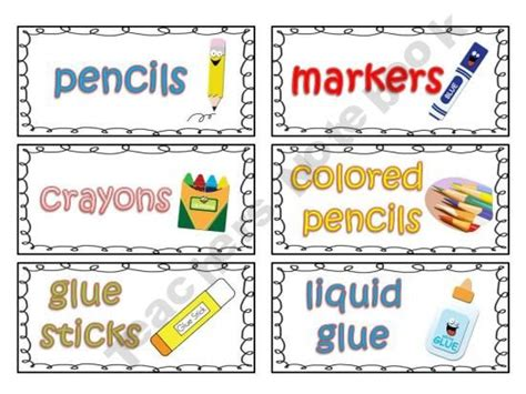 classroom supply labels for primary teachers with picture 699 | 7bd8c02efebfa4e6767e615e926a8199