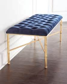 Bedroom Bench Navy Blue by Napoleon Navy Blue Bench