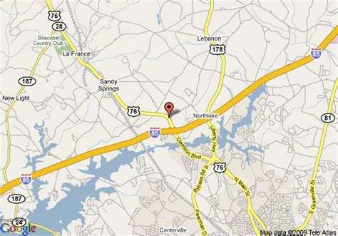 Map Of Holiday Inn Express Hotel And Suites Anderson I85