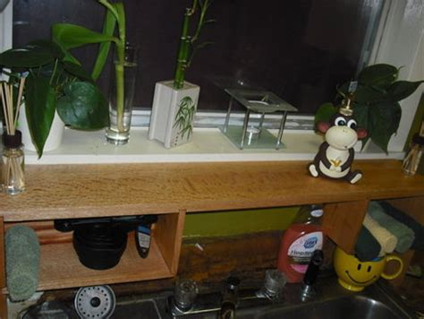Red Over The Sink Shelf by Over The Kitchen Sink Shelf By Sawdustwrangler