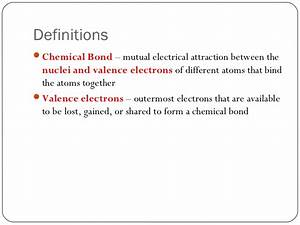 Lesson 1 Intro to Chemical Bonding