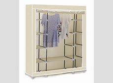 Vinsani Triple Canvas Clothes Wardrobe Cupboard Hanging