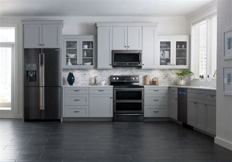 samsung brings black stainless steel finish  kitchen
