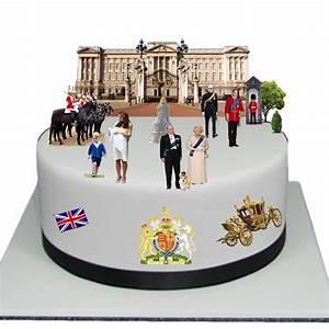 The Royal Family Edible Wafer Card Cake Topper Scene