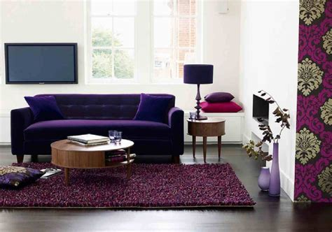 Purple And Red Living Room Ideas Plain Curtain Treatment