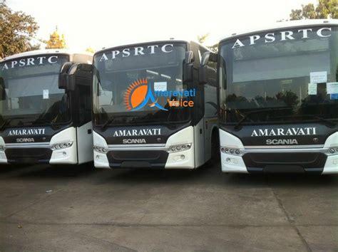 fleet  scania buses  apsrtc named amaravati news