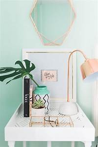 Rose Gold Wandfarbe : rose gold and aqua design decor inspiration pinterest einrichtungsideen dekoration und ~ Markanthonyermac.com Haus und Dekorationen