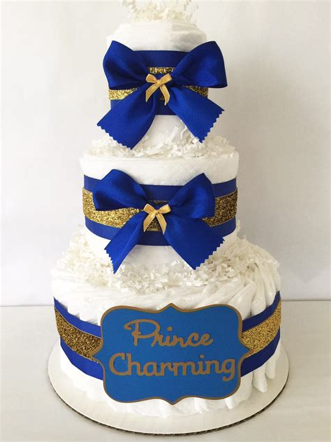 royal baby shower cake prince charming cake in royal blue and gold prince