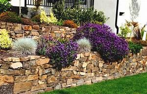 20 idees pour la construction d un mur de jardin With superior amenagement de jardin avec des pierres 8 murets au jardin