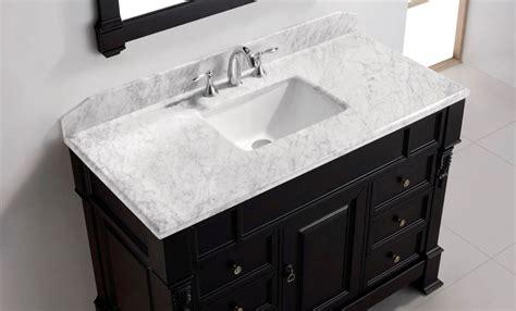 types  bathroom vanity tops