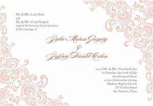 Free printable wedding invitation templates download for Blank evening wedding invitations