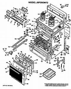 Ge Model Jbp26g F2 Free Standing  Electric Genuine Parts
