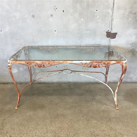 tempered glass patio table top vintage iron patio table with tempered glass top