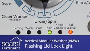 Flashing Lid Lock Light  How To Troubleshoot Errors On Your Vertical Modular Washer