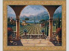 The Vineyard tapestry Tuscan tapestries