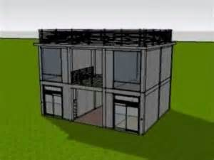 small house in 3d animated construction of 2 storey commercial building