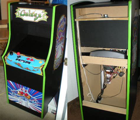 galaga arcade cabinet plans david s insanity home arcade projects mini