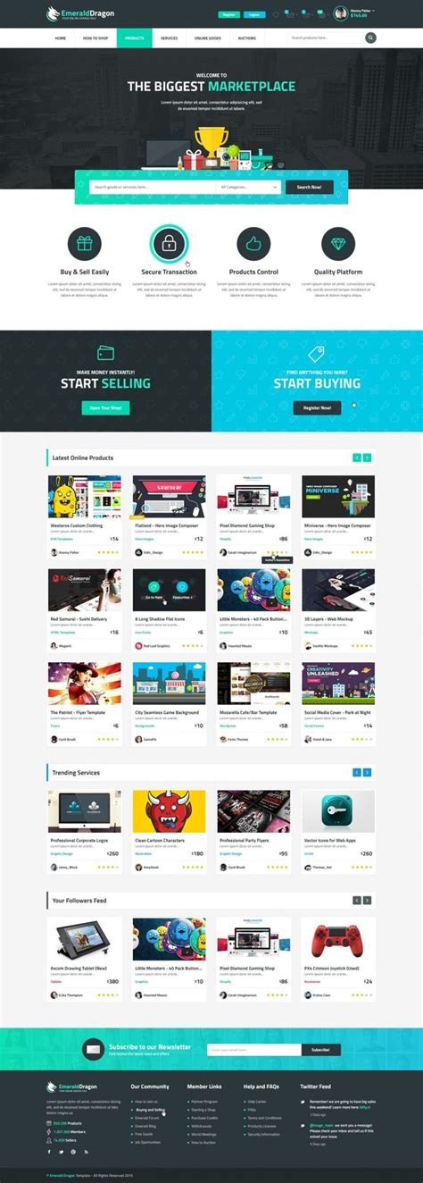 Emerald Dragon Template by 17 Best Ideas About Web Design Projects On Pinterest