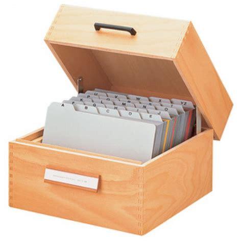 boite de rangement avec intercalaires boite pour fiches en bois format a5 1500 fiches han 1005 arc registres