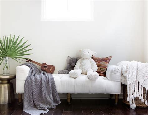 Camille Tufted Settee by White Tufted Settee Transitional Boy S Room