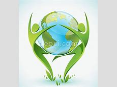 Free download vector Green People and Earth dance design