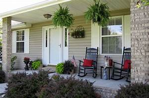 Small, Front, Porch, Decorating, Ideas