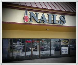 custom channel letters for florida nail salon With cheap channel letter signs