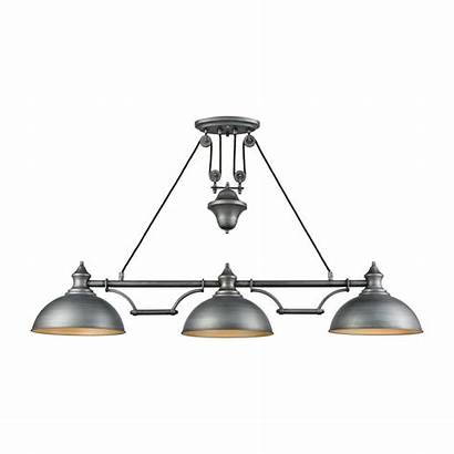 Farmhouse Lighting Billiard Titan Pendant Zinc Table