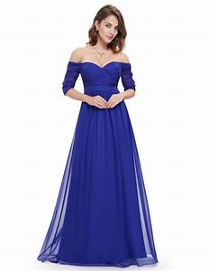 ever pretty strapless blue half sleeve long prom dress With prom dress templates