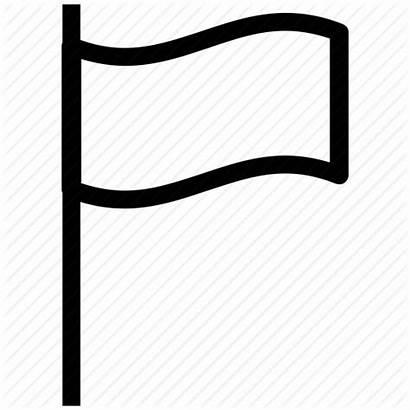 Flag Plain Clipart Icon Transparent Location Map