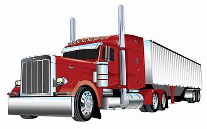 Peterbilt Clipart Truck Silhouette Clip Freightliner Transparent