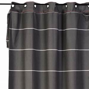 Rideau Gris Anthracite : rideau gris anthracite rideau lin lav passants cuir private ampm with rideau gris anthracite ~ Teatrodelosmanantiales.com Idées de Décoration