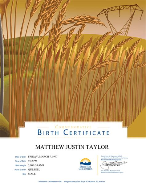 applying for long form birth certificate canada long form birth certificate bc 28 images new