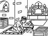 Coloring Ramadan Islamic Islam Muslim Quran Colouring Activities Eid Children Clip Clipart Anti Cartoon Religion Fitr Scum sketch template